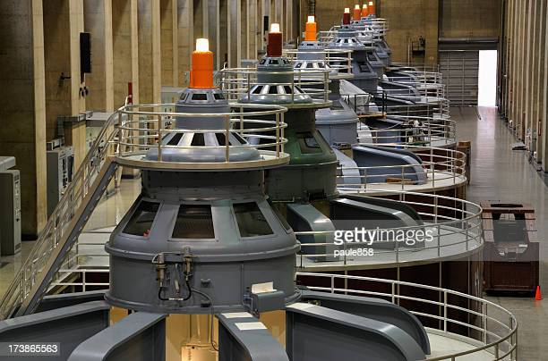 inside of a hydro electric power plant  - hoover dam stock photos and pictures