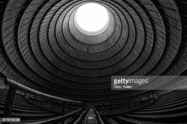 Inside of cooling tower, Belgium