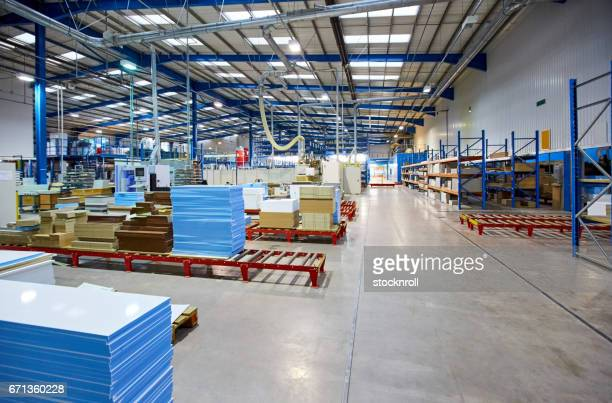 inside of factory shop floor - construction material stock pictures, royalty-free photos & images