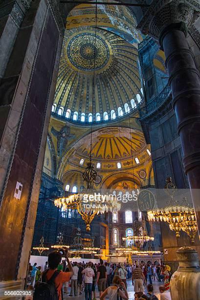 Inside of Hagia Sophia, Turkey