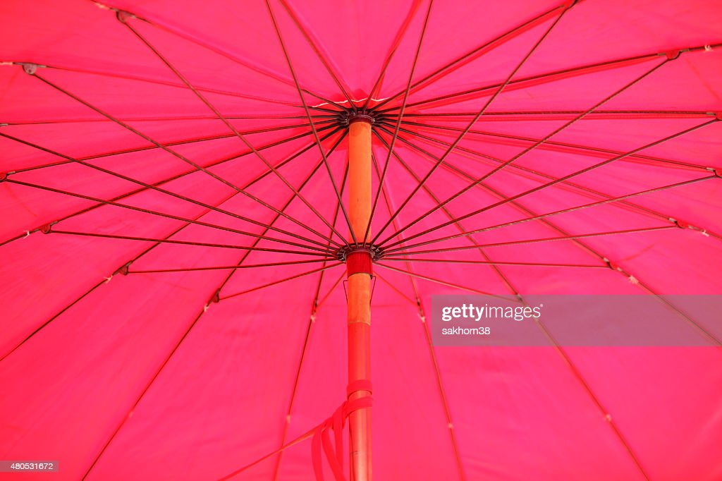 inside of pink umbrella : Stock Photo