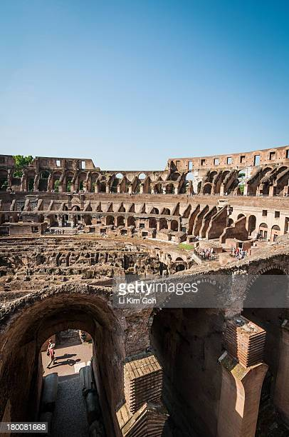 Inside of Roman Colosseum, Rome, Italy