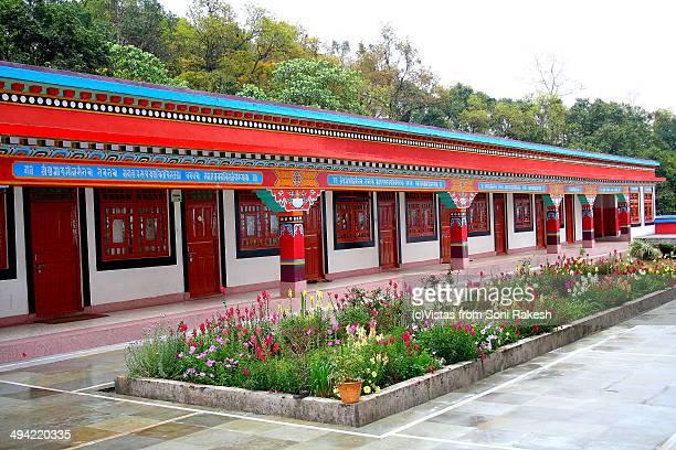 Inside of Rumtek monastery in Gangtok, Sikkim