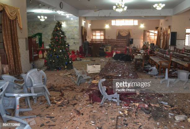 QUETTA BALOCHISTAN PAKISTAN Inside of targeted church in Quetta There were 9 People were killed and more than 50 people were wounded in a suicide...