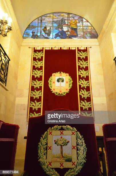Inside of The Assembly House Casa de Juntas in Gernika on 19 June 2017 Vizcaya Basque Country Spain