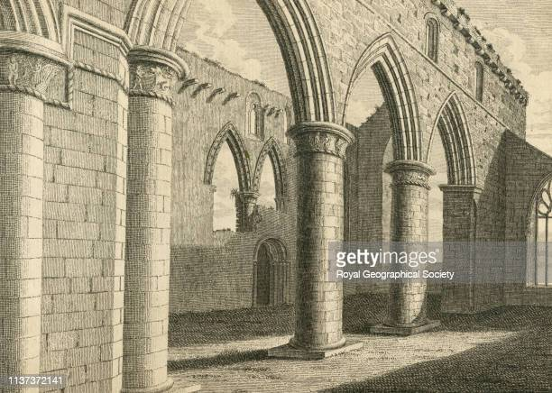 Inside of the Cathedral of Iona from 'A tour in Scotland and voyage to the Hebrides 1772' by Thomas Pennant Scotland