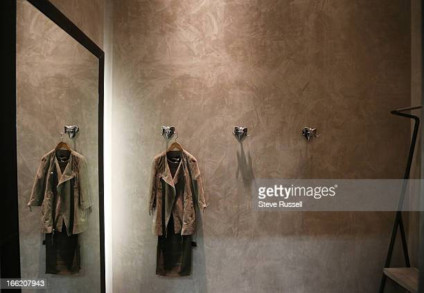 Inside of the change rooms at the UK fashion retailer AllSaints open a boutique at the Yorkdale Shopping Centre in Toronto