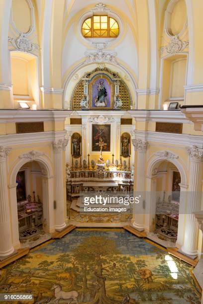 Inside Of The Chiesa San Michele In Ana Capri On The Island Of Capri Italy