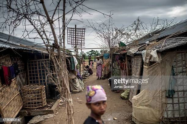 Inside of the IDP camps, May 25, 2015 in Sittwe, Burma. Since 2012, the minority group of the Rohingya people are forced to live in IDP camps, in...