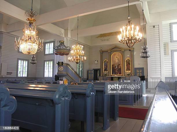 inside of the lappee church lappeenranta finland - ラッペーンランタ ストックフォトと画像