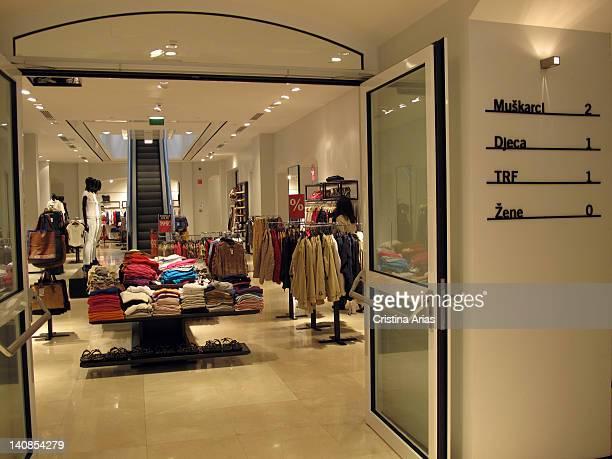 Inside of the store of Spanish fashion brand Zara in Zagreb Croatia July 2011
