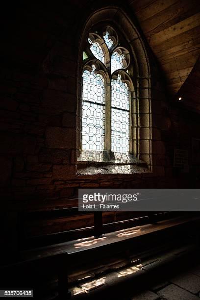 Inside of the Trémalo chapel