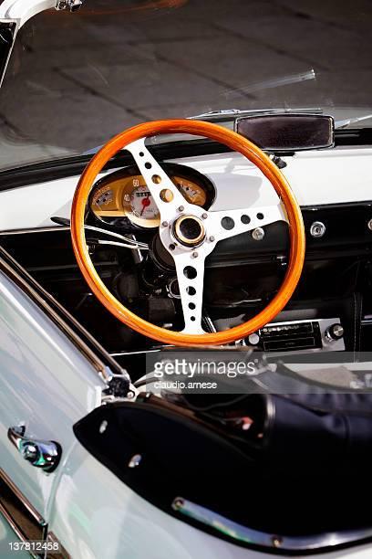 Inside of Vintage Classic Italian Car. Color Image