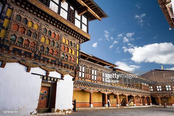 inside paro dzong - paro stock photos and pictures