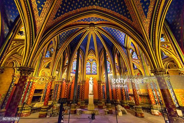 Inside Sainte Chapelle church