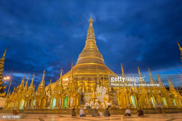 Inside Shwe dagon pagoda the most famous and important pagoda in yangon , myanmar
