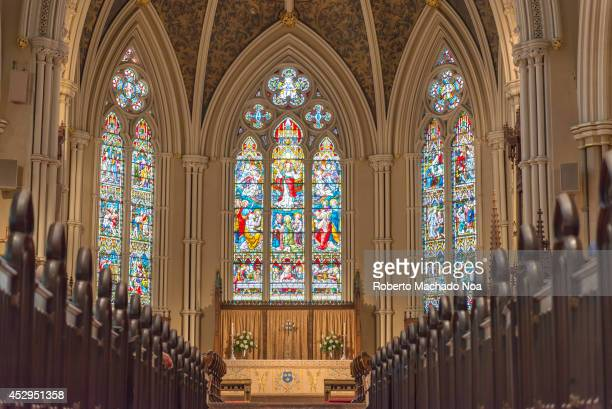 Inside St James Cathedral in Toronto This church is the home of the oldest congregation in the city and It is a prime example of Gothic Revival...