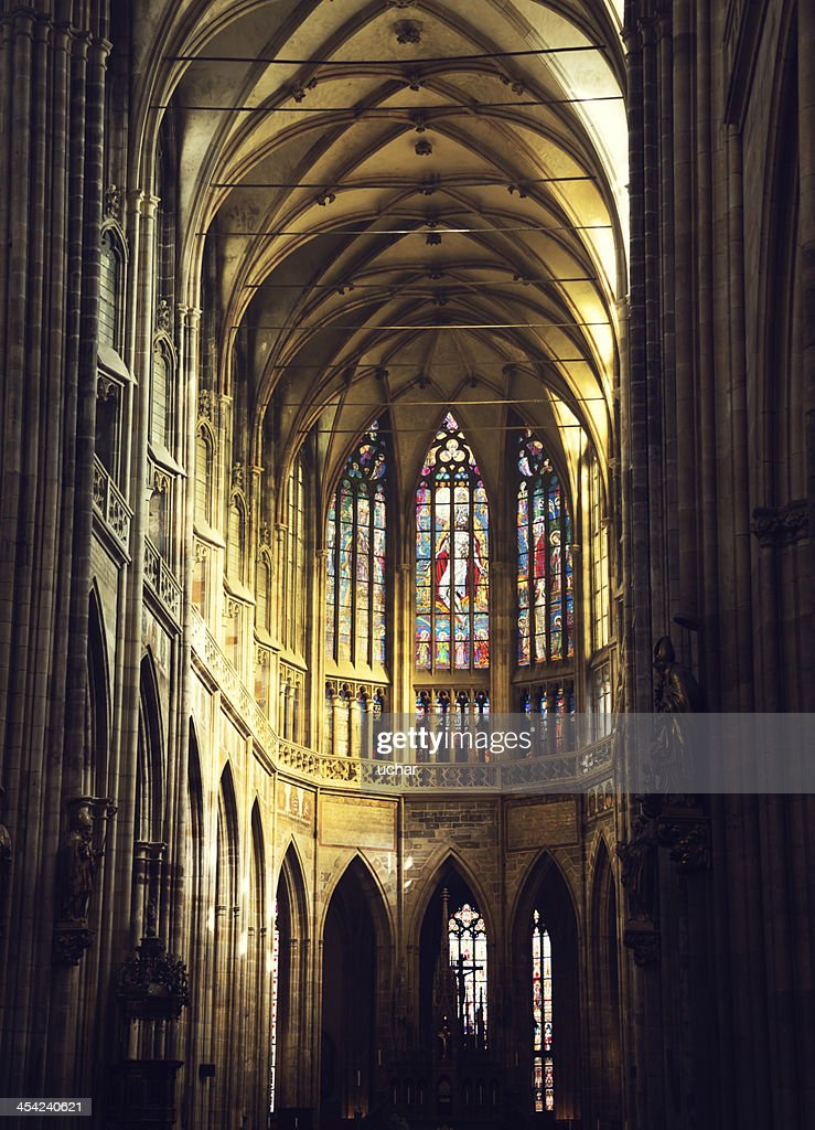 Inside St Vitus Cathedral : Stock Photo