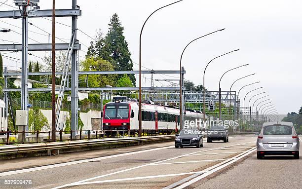 inside switzerland by train. - crmacedonio stockfoto's en -beelden
