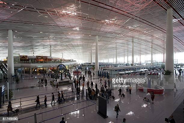 Inside Terminal Three of Beijing Capital International Airport China