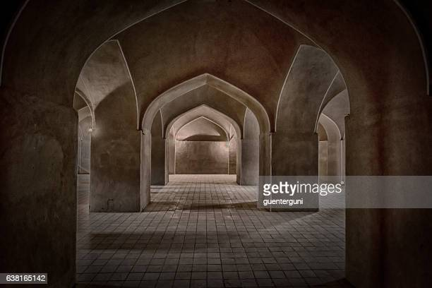 inside the adobe castle of rayen in kerman province, iran - ancient stock pictures, royalty-free photos & images