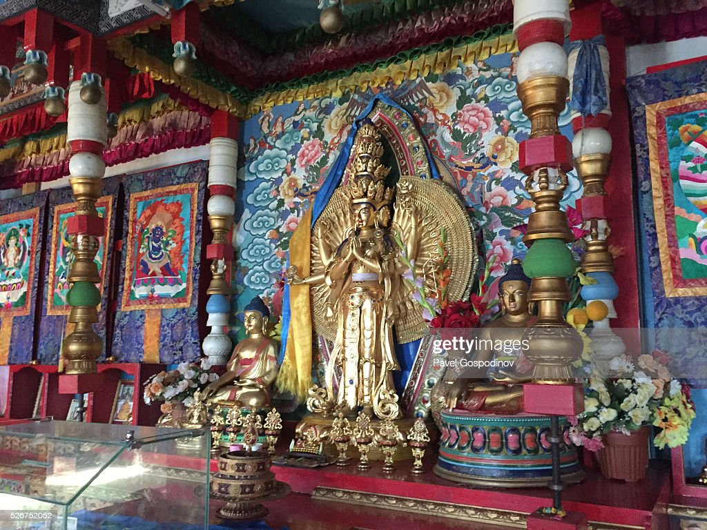 Inside The Aryabal Buddhist Meditation Center Temple In The