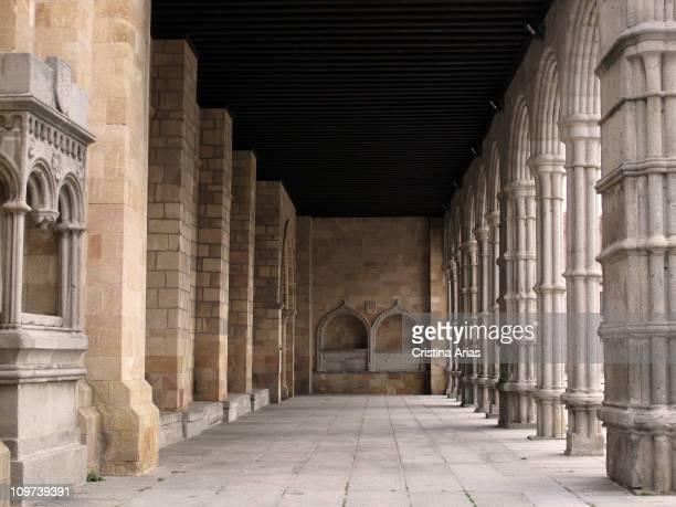 Inside the atrium of of Basilica of San Vicente Avila World Heritage City UNESCO Castilla y Leon Spain december 2010