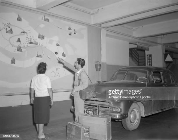 Inside the Autorimessa Piazzale Roma a garage in Piazzale Roma Venice Italy circa 1950