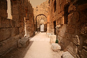 Inside the Baptistry, Church of St Simeon, Syria.