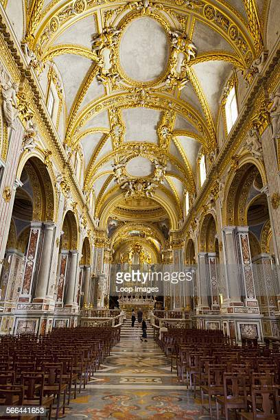 Inside the Basilica Cathedral at Monte Cassino Abbey.