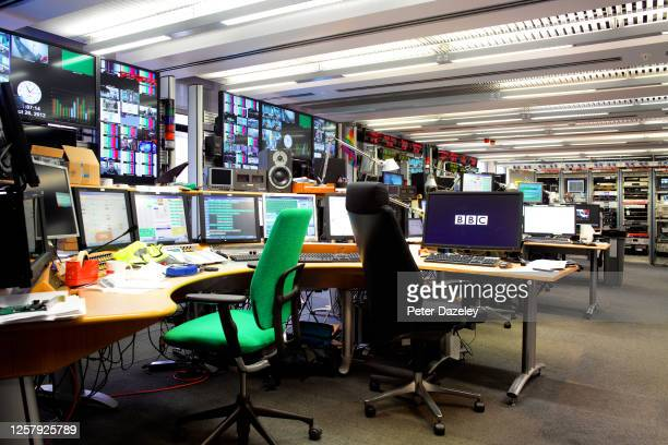 Inside the BBC London Control Room in Broadcasting House on October 29,2012 in London, England.