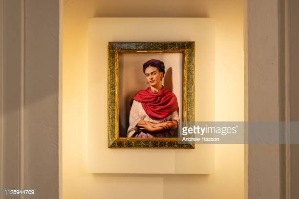 Inside the Casa Azul or Blue House in Mexico City the museum dedicated to artist Frida Kahlo on January 17 2019 in Mexico City Mexico