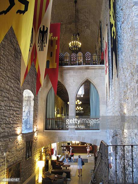 Inside the Castle of Charles V in Hondarribia which now houses a hotel of stateowned Paradores Nacionales Guipuzcoa Basque Country Spain
