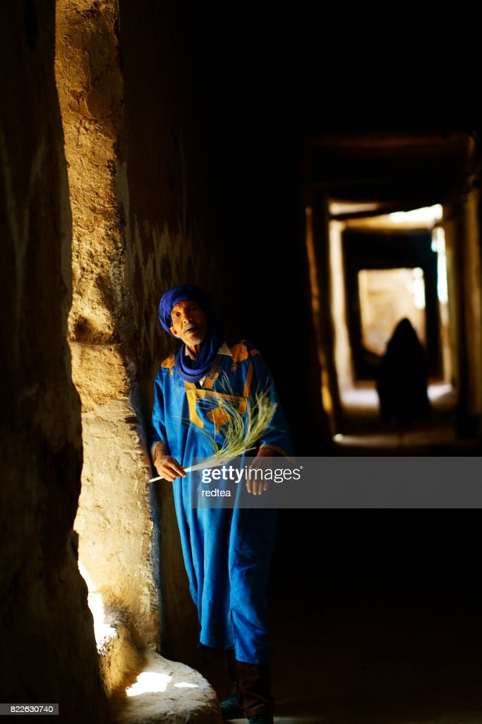 Inside the castle of Morocco : Stock Photo