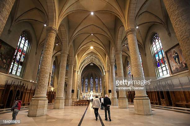 Inside the Cathedrale NotreDame as Luxembourg prepares for its Royal Wedding on October 12 2012 in Luxembourg Guillaume Hereditary Grand Duke of...