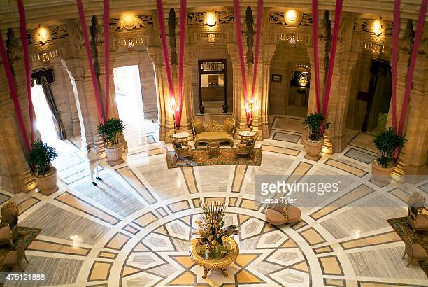 Inside the central cupola at Umaid Bhawan palace With 76 guest rooms Jodhpur's Art Deco palace Umaid Bhawan is reportedly one of the largest...
