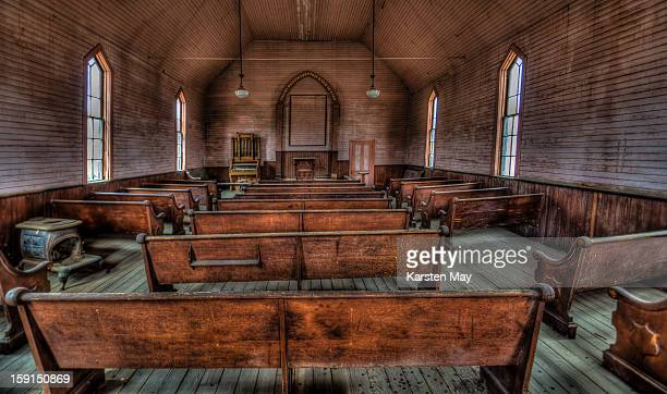 Inside the church of Bodie