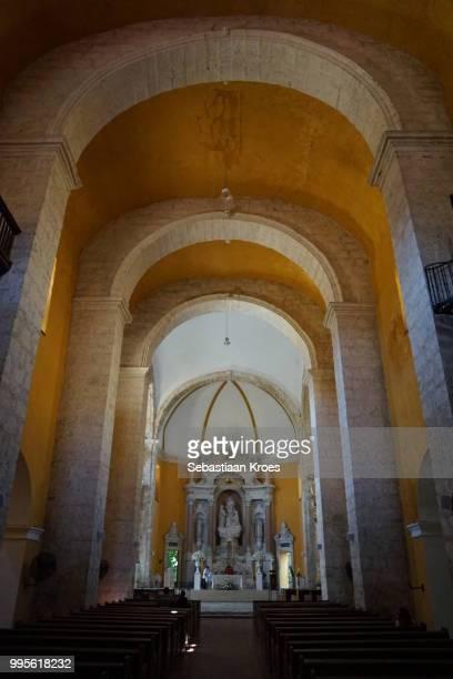 Inside the Church of the Convento de Santo Domingo, Cartagena, Colombia