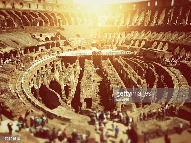 inside the coliseum of rome - inside the roman colosseum stock photos and pictures