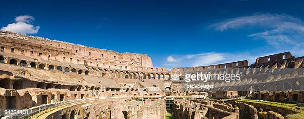 inside the colosseum, rome - inside the roman colosseum stock photos and pictures