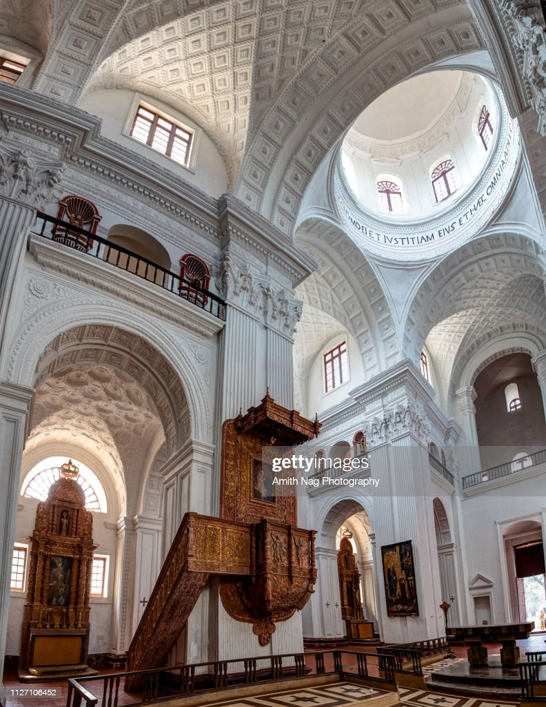 Inside The Famous St Cajetan Church In Old Goa High-Res