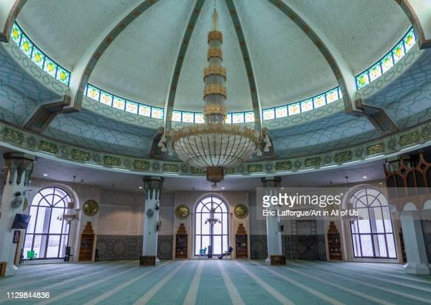 Inside the floating mosque or masjid Bibi Fatima Mecca province Jeddah Saudi Arabia on December 14 2018 in Jeddah Saudi Arabia