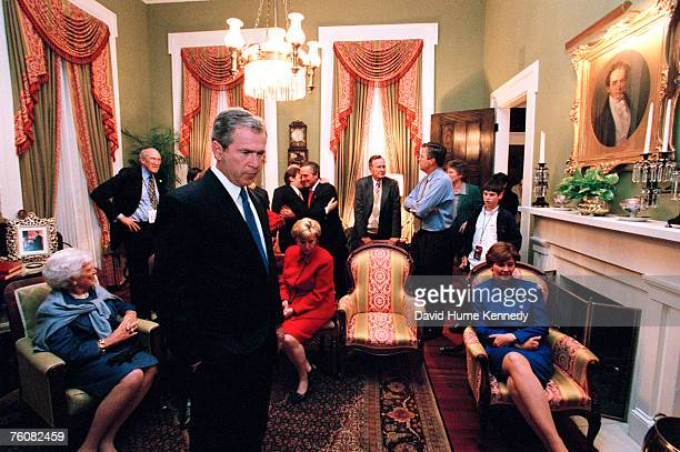 Inside the Governor's Mansion on election night Vice Presidential Candidate Dick Cheney Campaign Chairman Don Evans Florida Governor Jeb Bush former...