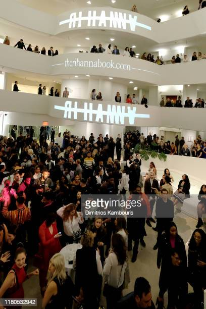 Inside the Guggenheim during the launch of Rihanna's first Visual Autobiography, Rihanna, at Guggenheim Museum on October 11, 2019 in New York City.