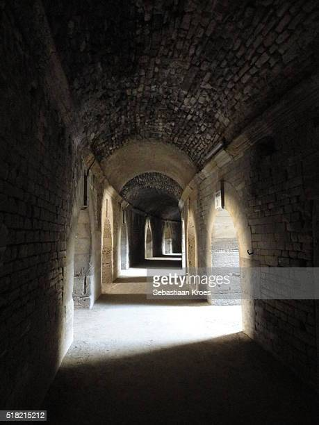 Inside the Hallways, Roman Amphitheatre, Arles, France