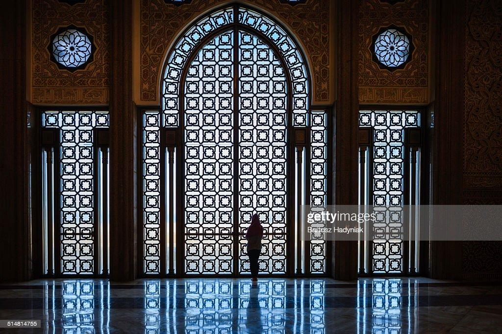 Inside The Hassan II Mosque, Casablanca : Stock Photo