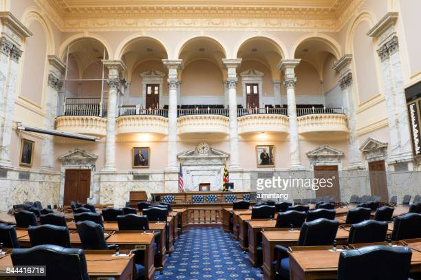 Inside the House Chamber in Maryland State House