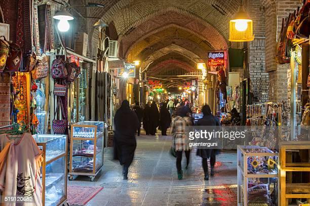 Dentro do Bazar Imperial de Isfahan, Irão