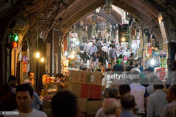 inside the imperial bazaar of isfahan, iran - isfahan province stock pictures, royalty-free photos & images