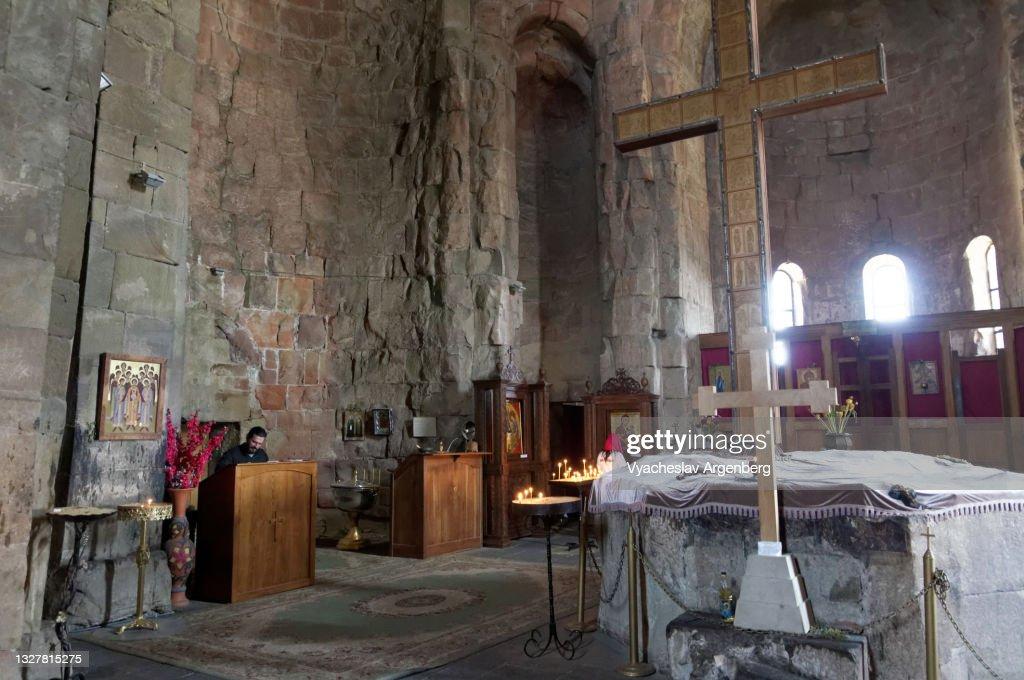 Inside the Jvari Church, Mtskheta : Stock Photo